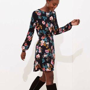 Ann Taylor Loft Black Floral Dress